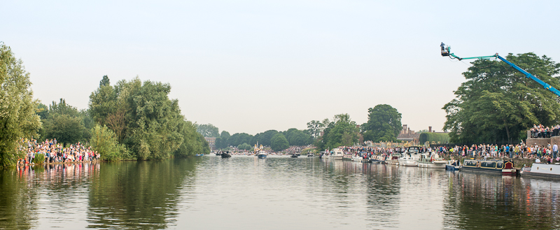 The Olympic Torch in Hampton Court