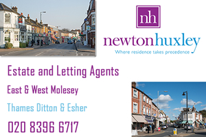 Newton and Huxley - Estate and Letting Agents covering the areas of Molesey, Esher and Thames Ditton.