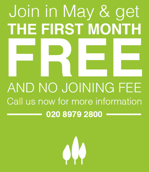 Join in May and get the first month free