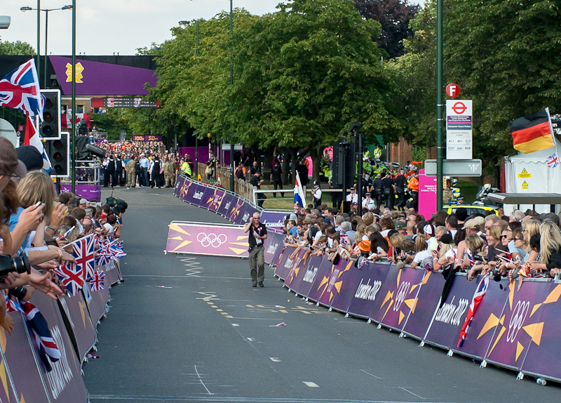 The Hampton Court Olympic Time Trials August 1st 2012 – The Mens race – After the End of the Race