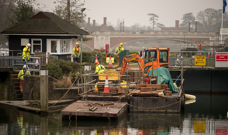 East Molesey Lock renovation 2013