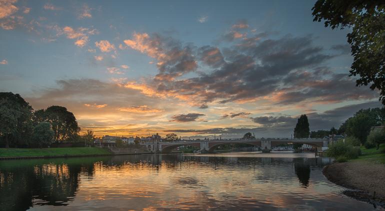 Hampton Court Bridge Sunset