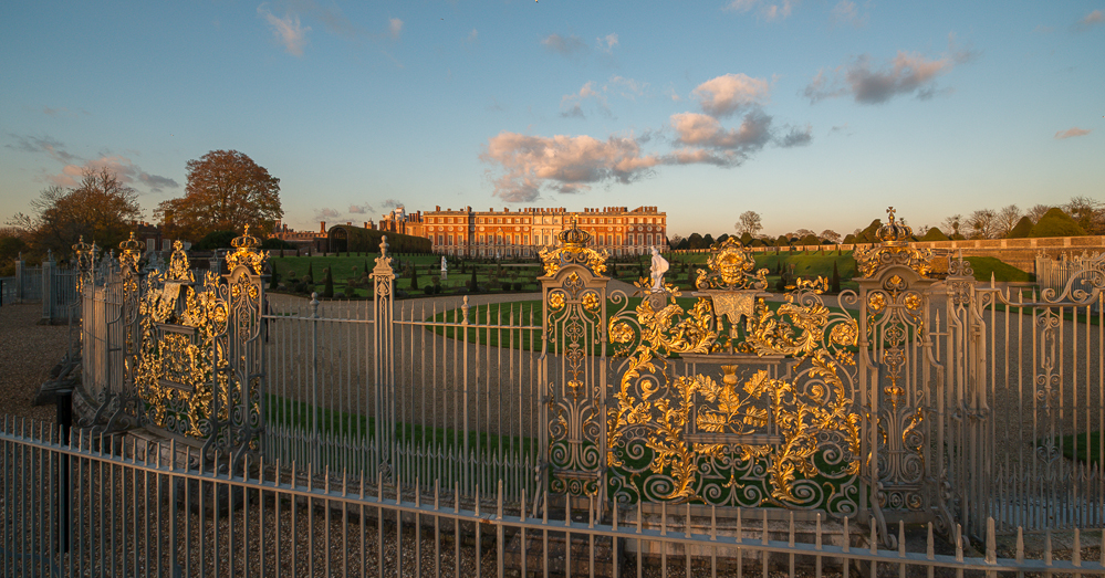 November pre sunset Hampton Court Palace