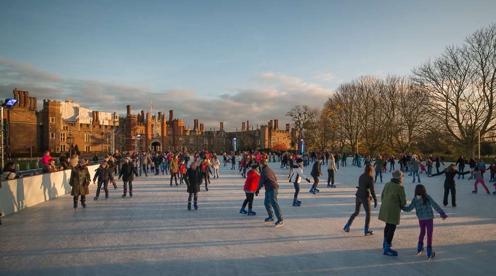 Ice Skating at Hampton Court Palace 2015