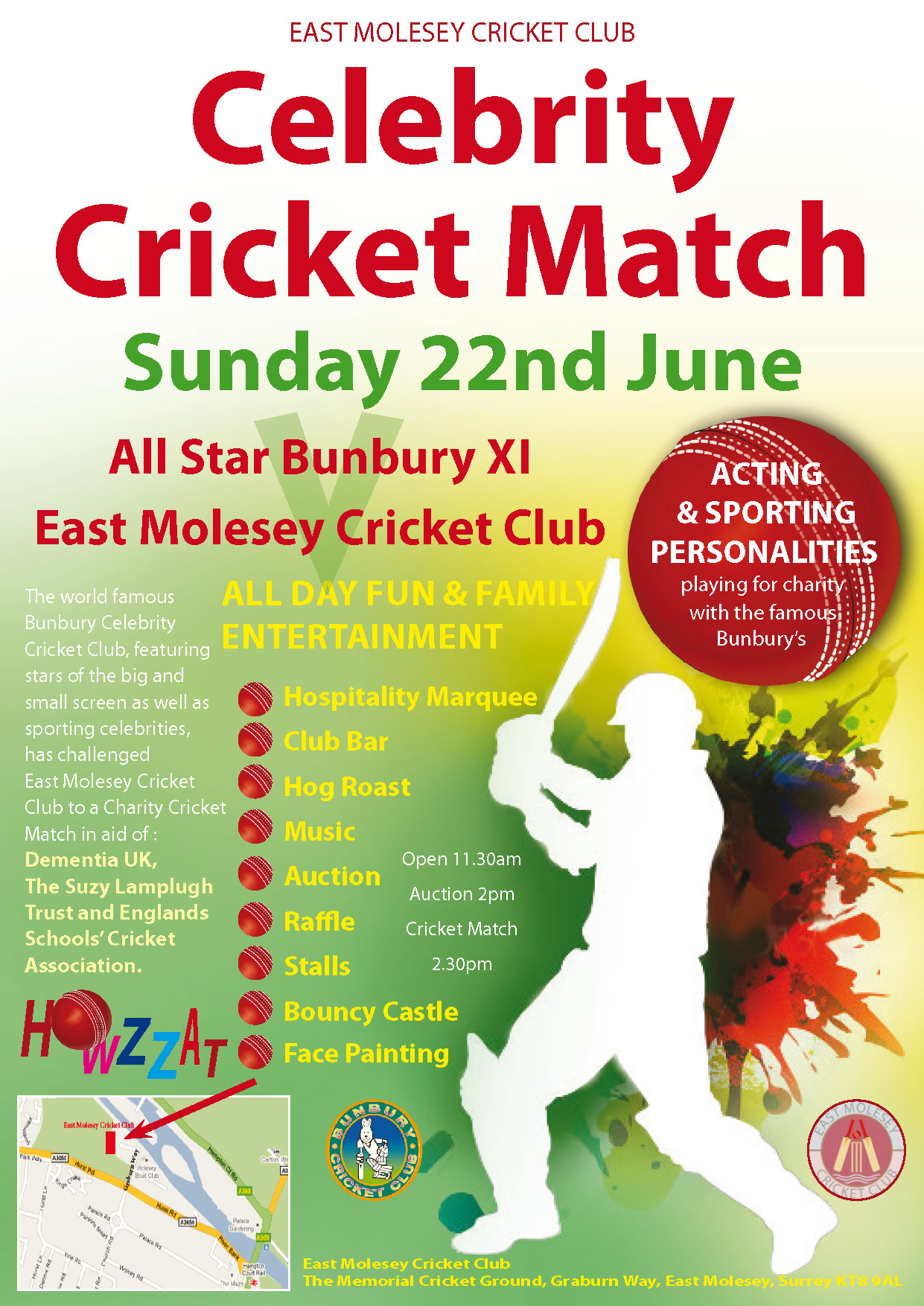 Clebrity Cricket Match East Molesey