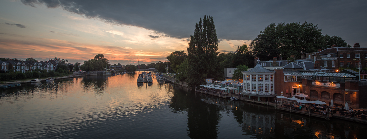 Sunset photos from Hampton Court Bridge July 2014