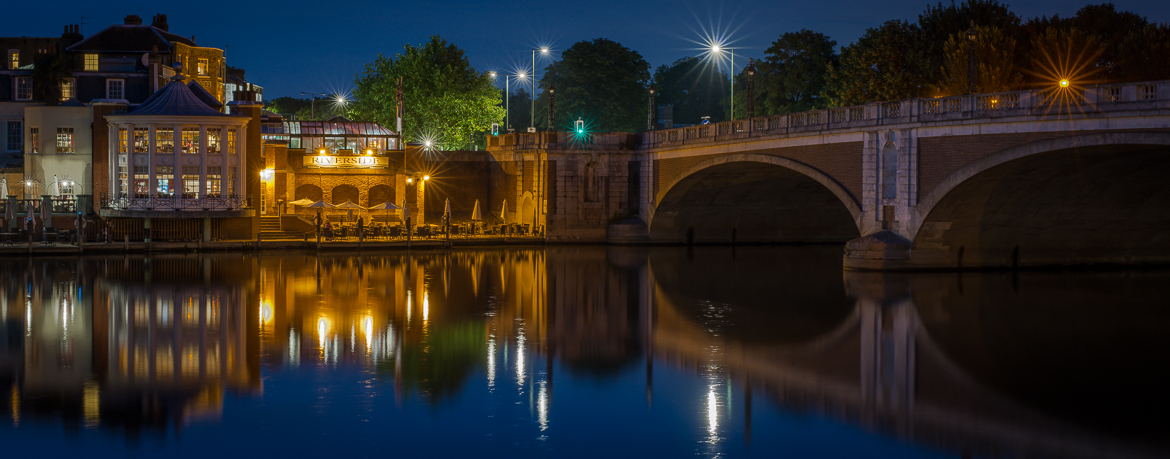 Night Photography Hampton Court Bridge