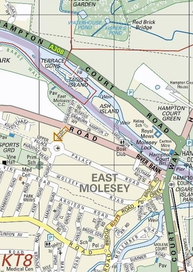 St Pauls Church East Molesey - Map