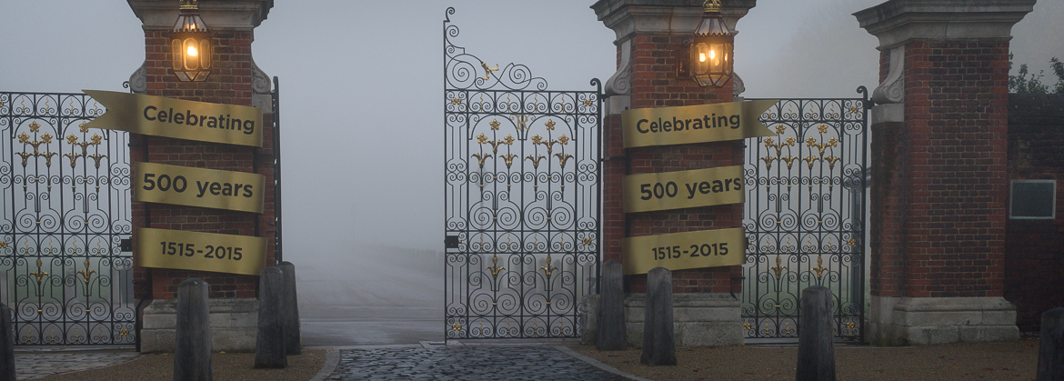 Foggy day in East Molesey & Hampton Court Palace