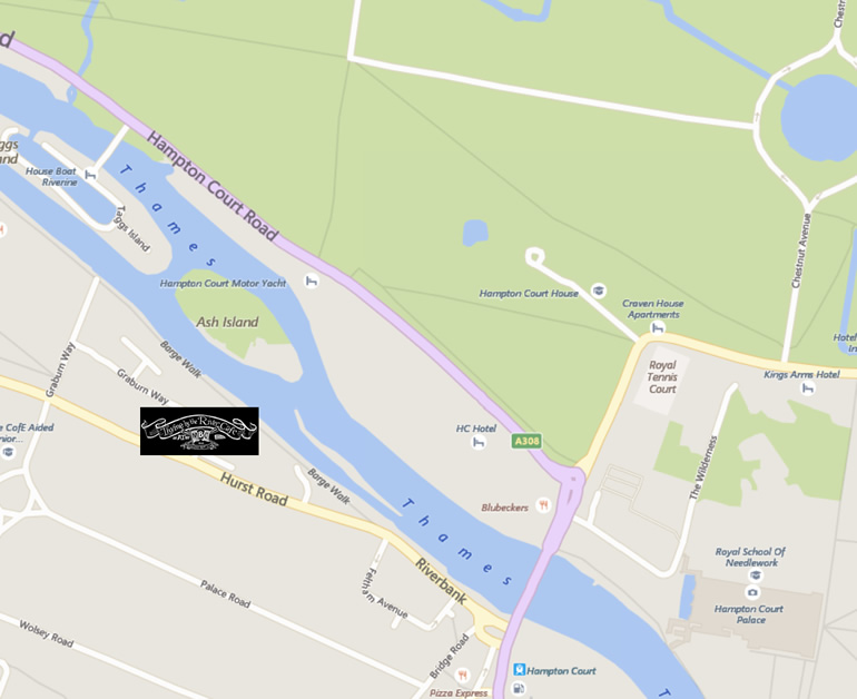 Map Thyme by the River at Molesey Boat Club