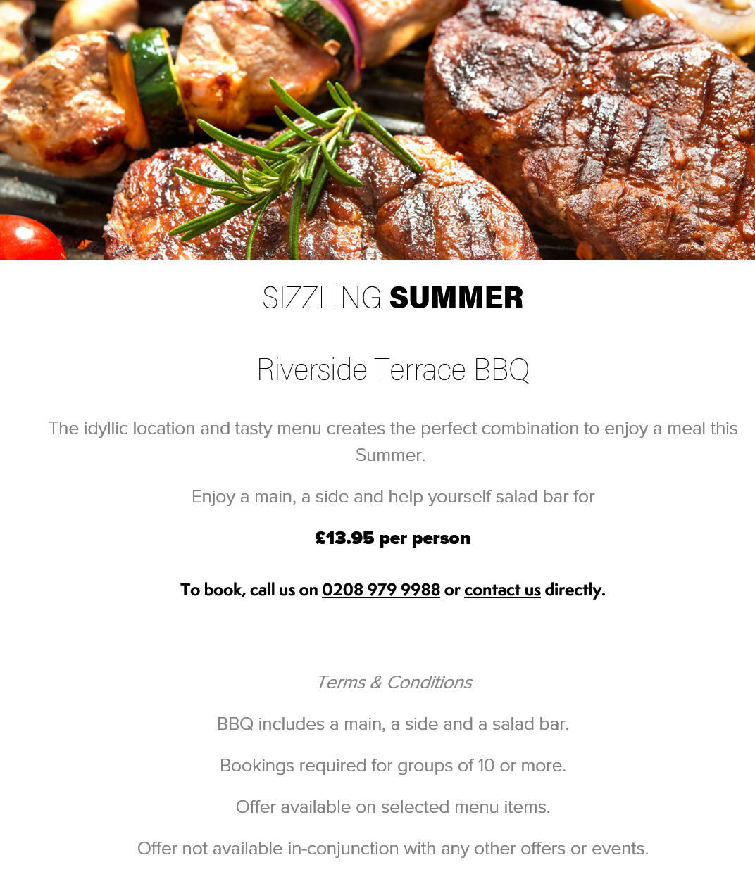 Summer BBQ at the Mitre Hampton Court