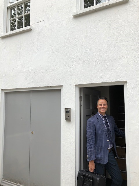 Adam Schoon at Hansons London Notting Hill office which opened on September 11.