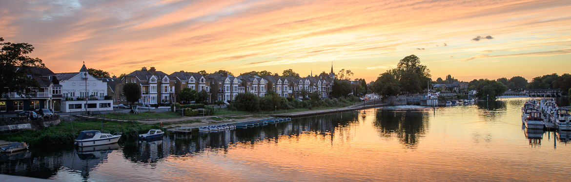 East Molesy Sunset - Sept 2018 - From Hampton Court Bridge