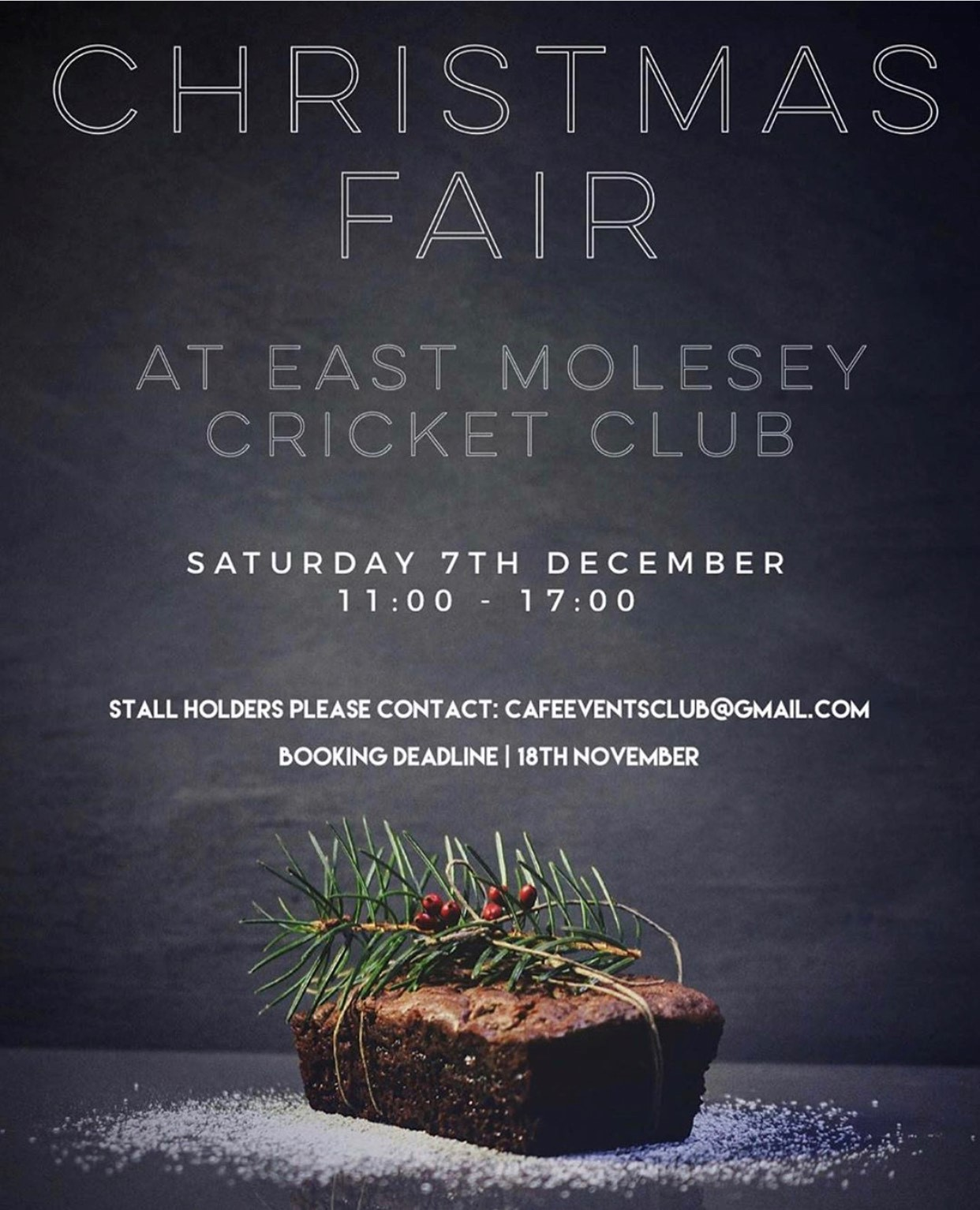 Christmas fair at East Molesey Cricket Club